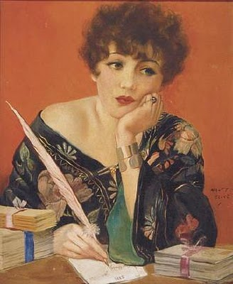 Hnery Clive - Woman Writing at Desk